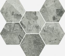 Мозаика Italon Charme Extra Floor Project Silver Hexagon