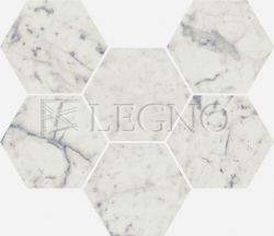 Мозаика Italon Charme Extra Floor Project Carrara Hexagon