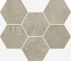 Мозаика Italon Terraviva Floor Hexagon Greige