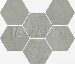 Мозаика Italon Terraviva Floor Hexagon Grey